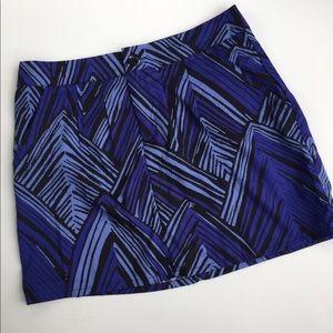 GAP Black & Blue Print Miniskirt Size 4